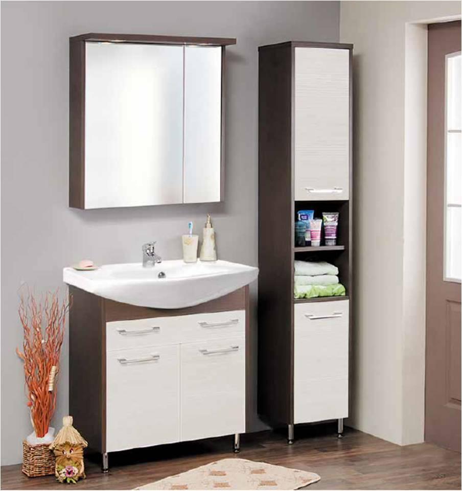 Консрукция мойдодыра для практичной и светлой ванной комнаты