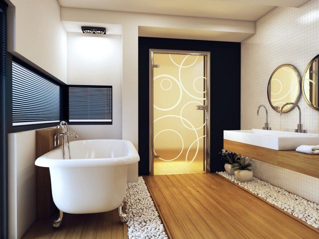 Критерии выбора коврика для просторной ванной комнаты
