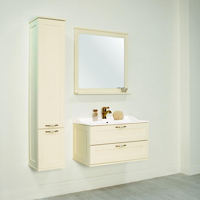 Мебель «Акватон» для ванной комнаты белого цвета