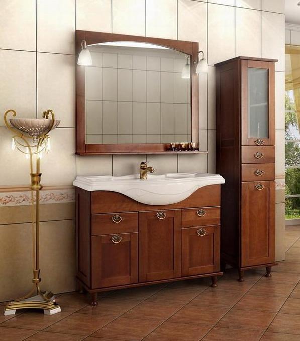 Мебель от «Акватон» в стиле старого дерева для декора ванной комнаты