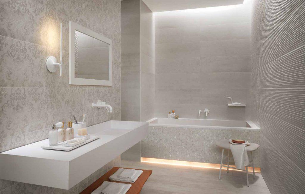Фото модной плитки 2016 для маленькой ванной комнаты