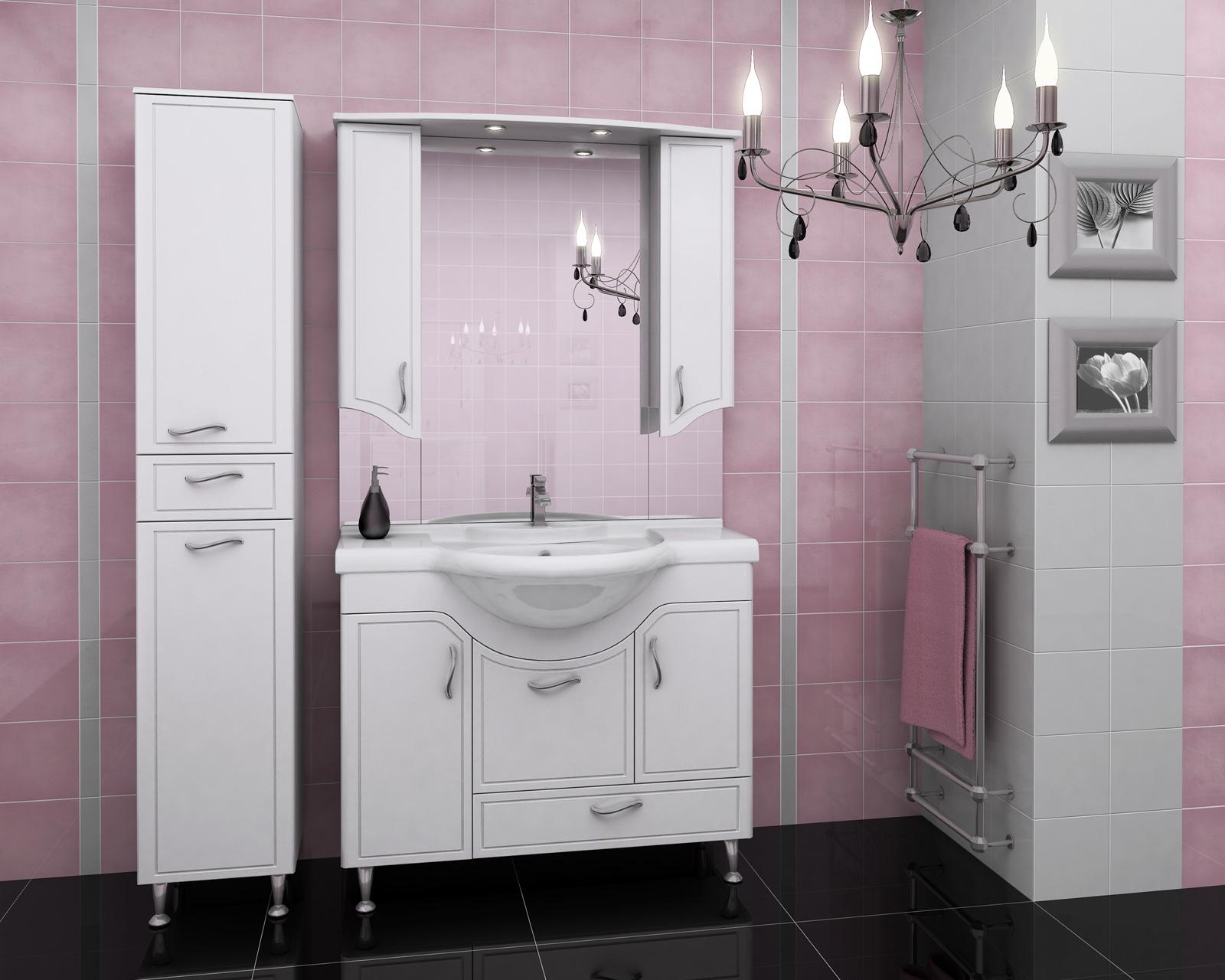 Мойдодыр для светлой ванной комнаты с яркими акцентами
