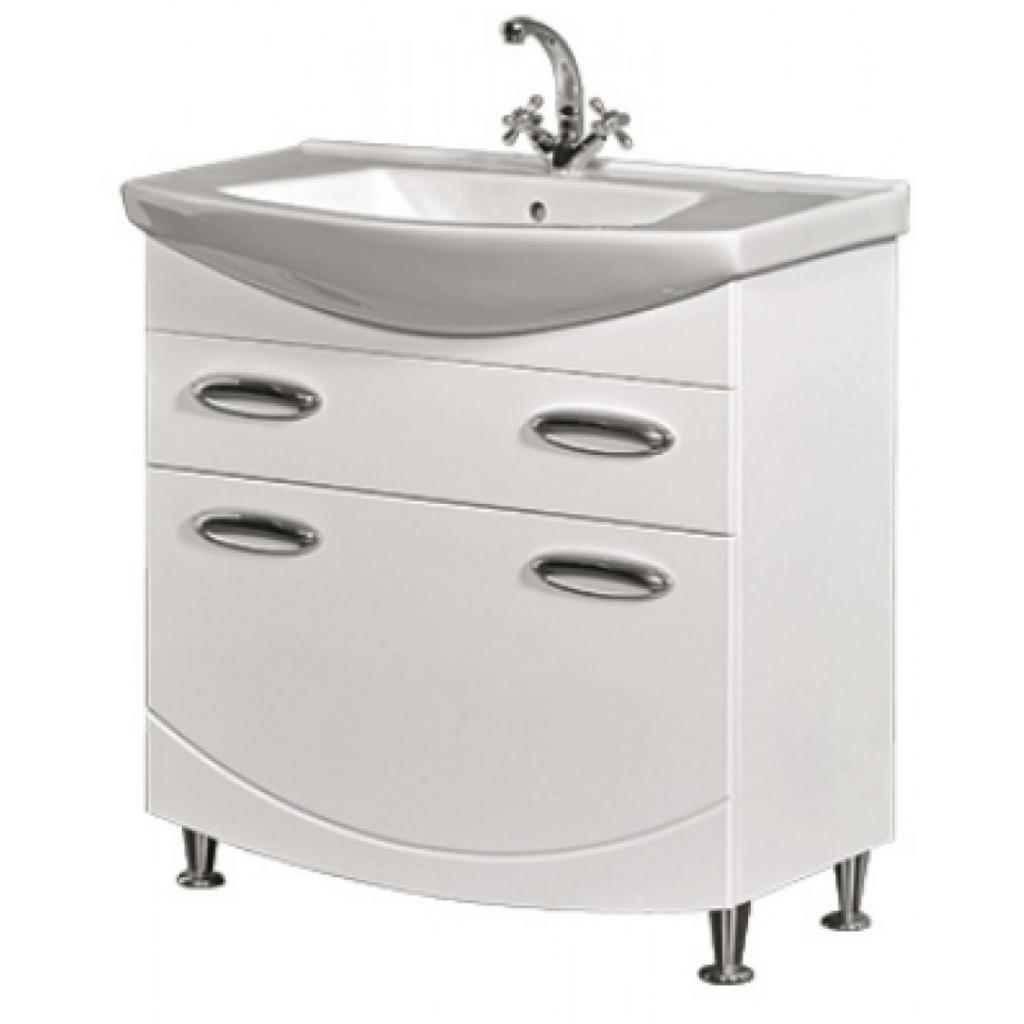 Мойдодыр в белом цвете для классического дизайна ванной комнаты
