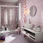 Mosaic tiles in bathroom
