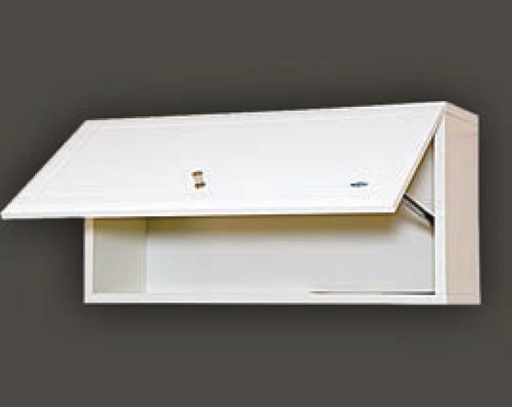 Навесной шкаф для маленькой ванной комнаты светлых тонов