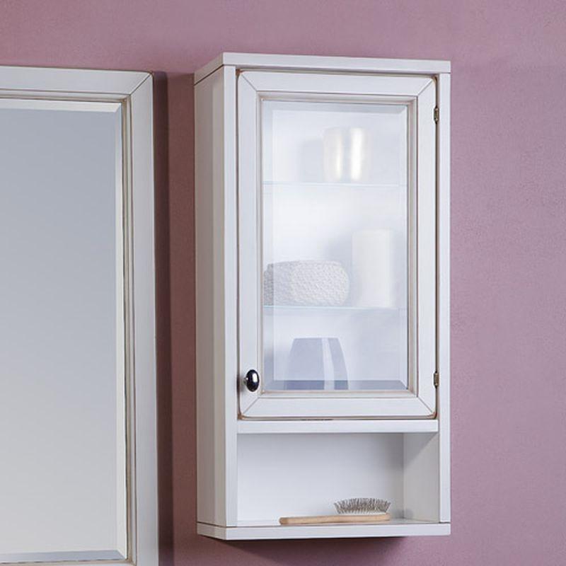 Навесной шкаф с оригинальной прозрачной дверцей