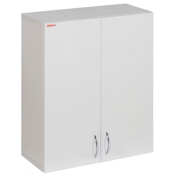 Навесной шкаф с распашными дверцами для маленькой ванной комнаты