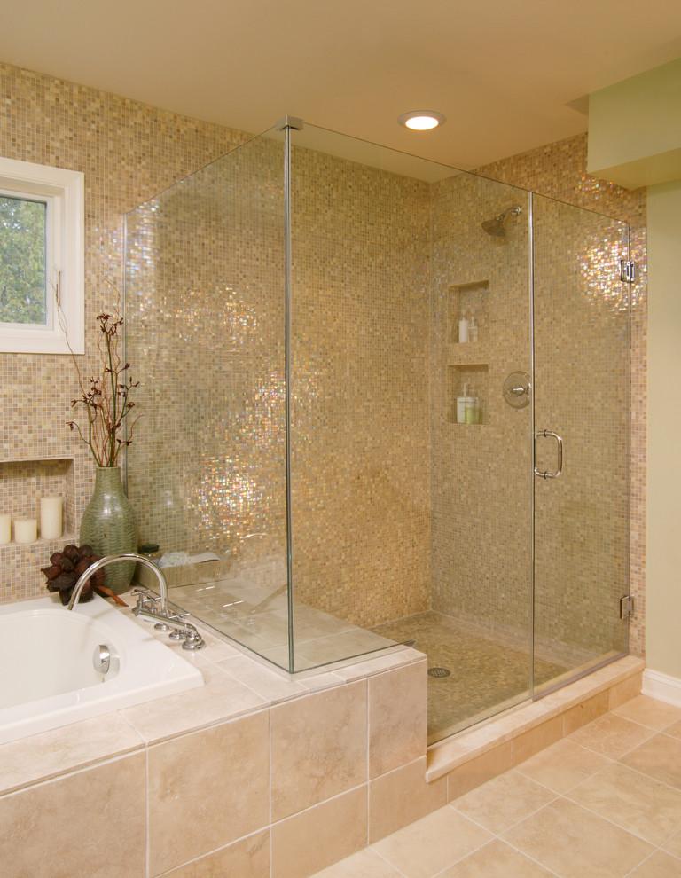 Отделка ванной комнаты плиткой дизайн с душевой кабиной