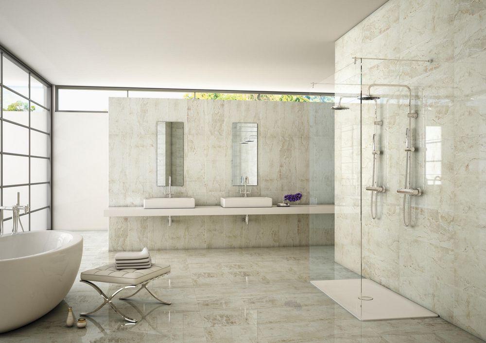 Оригинальная современная плитка для просторной ванной комнаты
