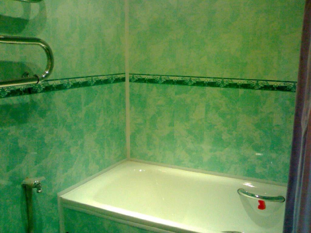 Оригинальные панели пвх в интерьере ванной комнаты