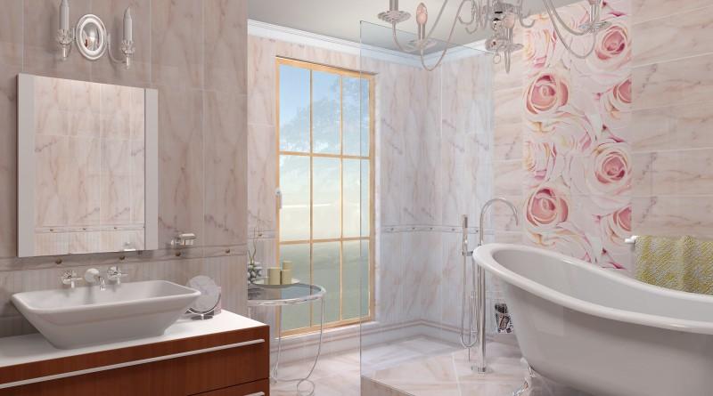 Пластиковые панели с дизайнерским рисунком для роскошного интерьера ванной комнаты