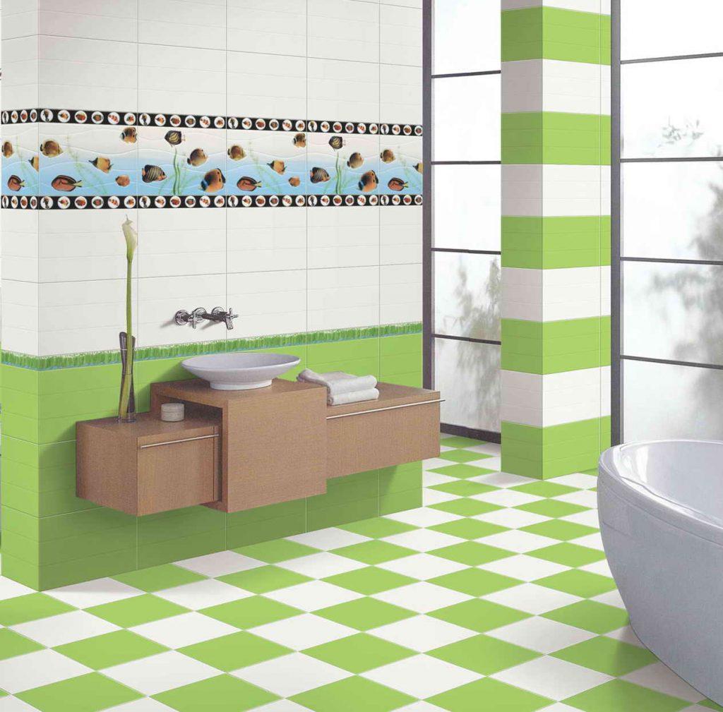 Плитка для уютной ванной комнаты с маленькой площадью