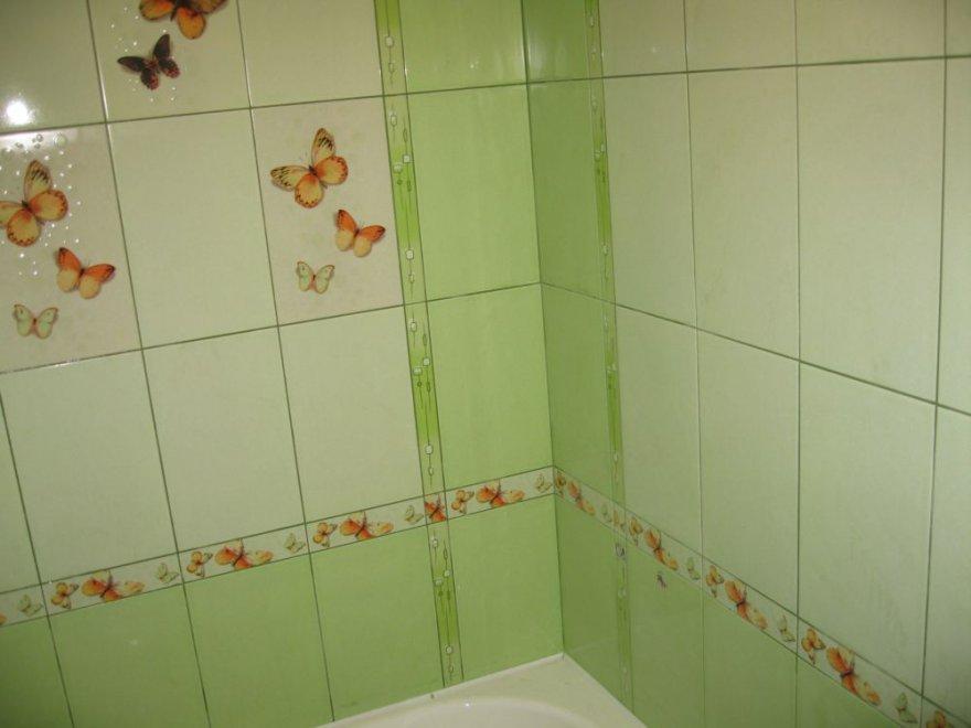Плитка в современной ванной комнате после выполнения работ своими руками