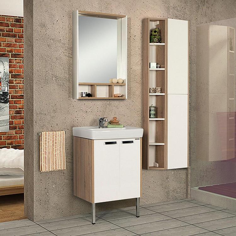 Ванная комната с мебелью от «Акватон» в спокойном и выдержанном стиле