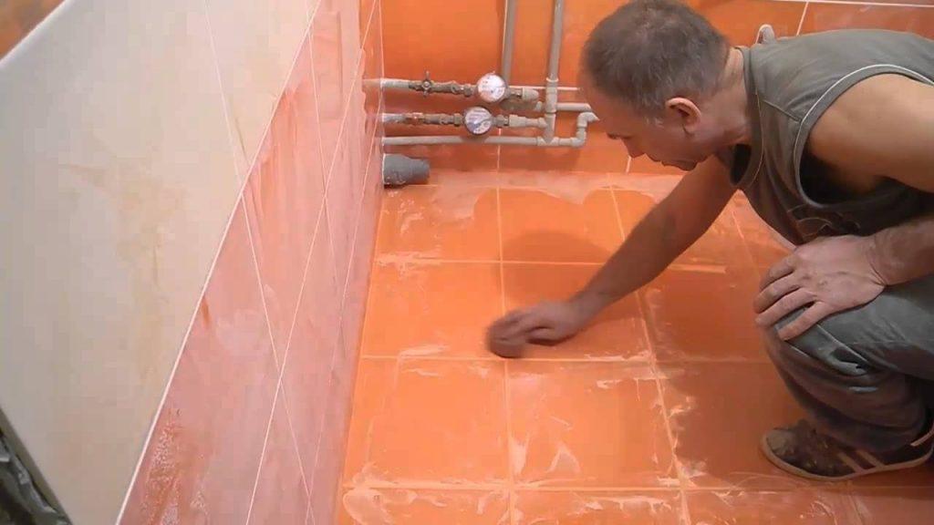Правильная укладка современной плитки в ванной комнате своими руками
