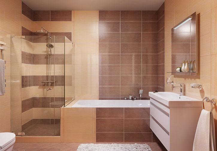 Преимущества и недостатки плитки разного оттенка для ванной комнаты