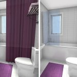 RoomSketcher Small Bathroom Ideas Shower Curtain Frameless Glass Tub Panel Before After
