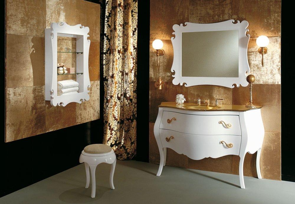 Роскошный вариант мойдодыра для красивой ванной комнаты