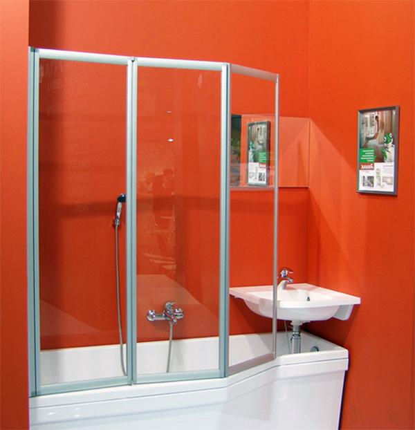 Выбор стеклянной шторки для ванной комнаты в необычном дизайне