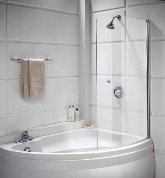 Выбор прозрачной стеклянной шторки для угловой ванны