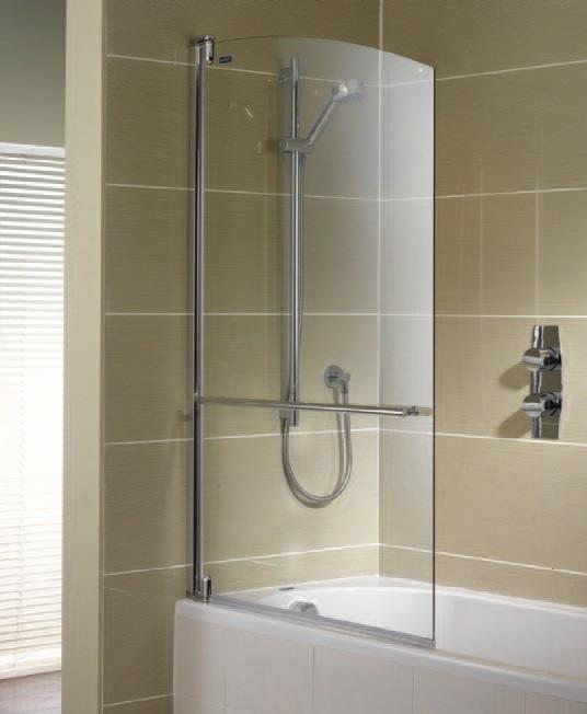 Выбор стеклянной шторки для ванной комнаты в выдержанном стиле