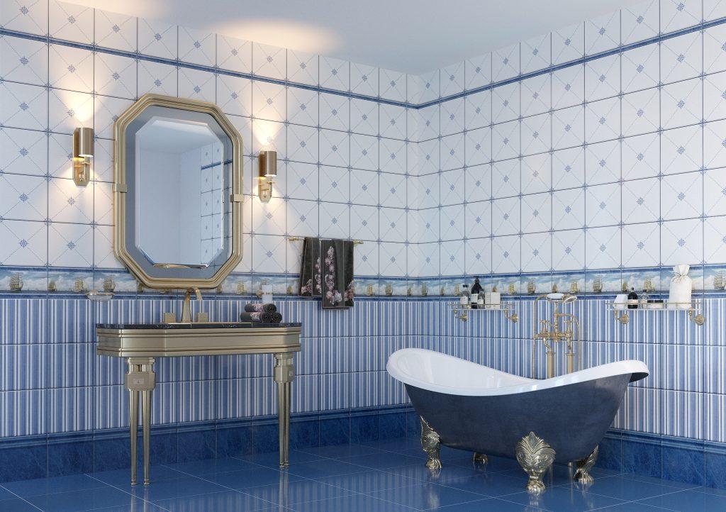 Стеновые панели для роскошного и строго стиля ванной комнаты