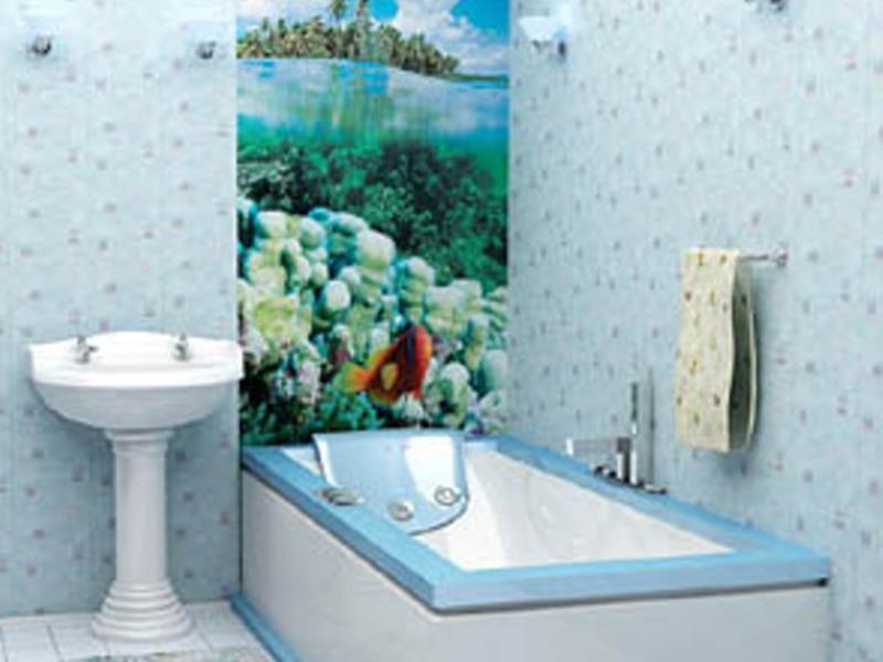 Необычные стеновые панели с изображением природы для ванной комнаты