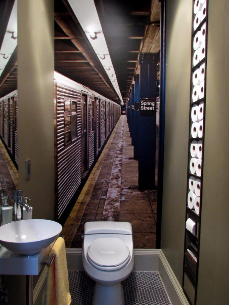 Дизайн в светлых тонах для ванной комнаты совмещенной с туалетом