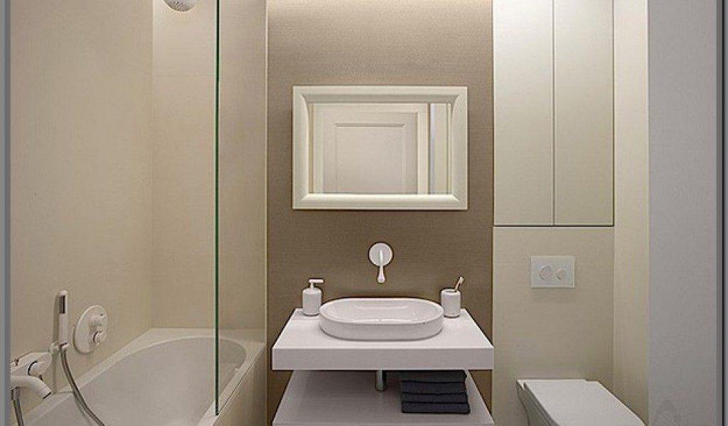 Стильный дизайн интерьера ванной комнаты в постельных тонах