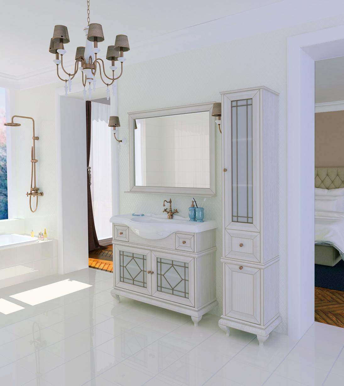 Ванная комната в постельных тонах с коллекцией мебели от «Акватон»