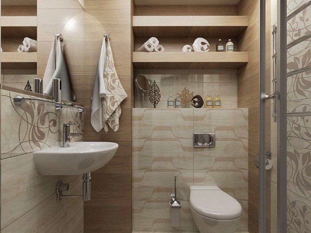 Стильный дизайн для декора ванной комнаты совмещенной с туалетом