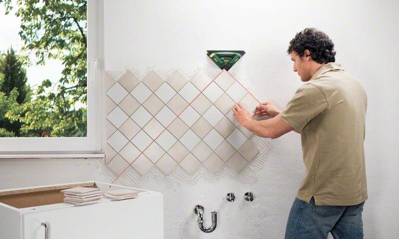 Укладка плитки своими руками по диагонали