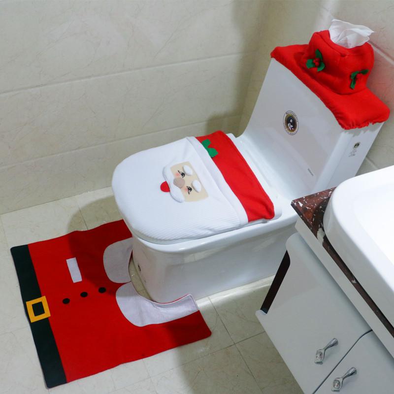 Как выбрать дизайнерский коврик для ванной комнаты с новогодним декором