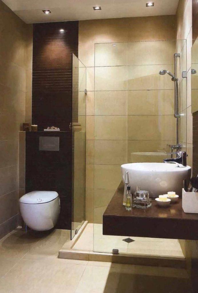 Удобный коврик для ванной комнаты в стиле минимализма
