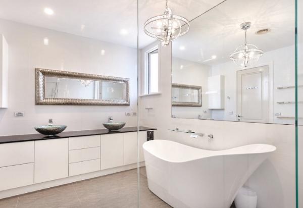 современное дизайнерское решение для ванной комнаты