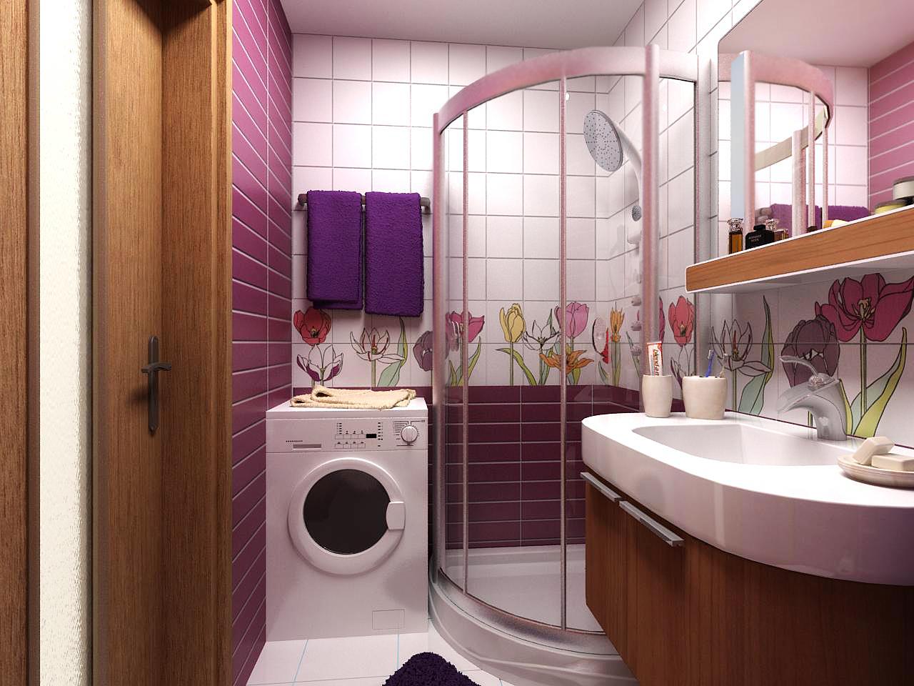 Декор маленькой ванной своими руками