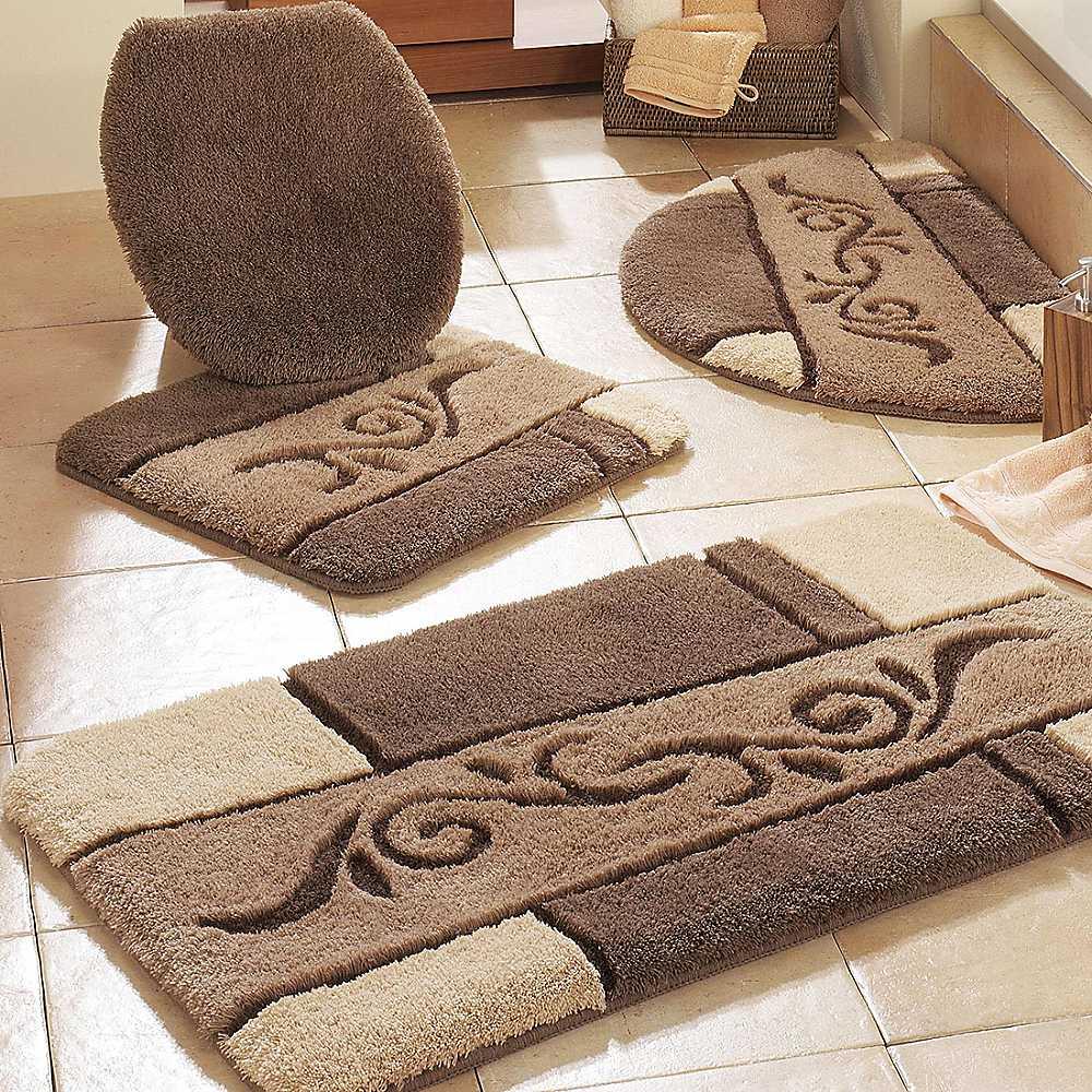 Особенности выбора ковриков для ванной: синтетика или натуральные материалы