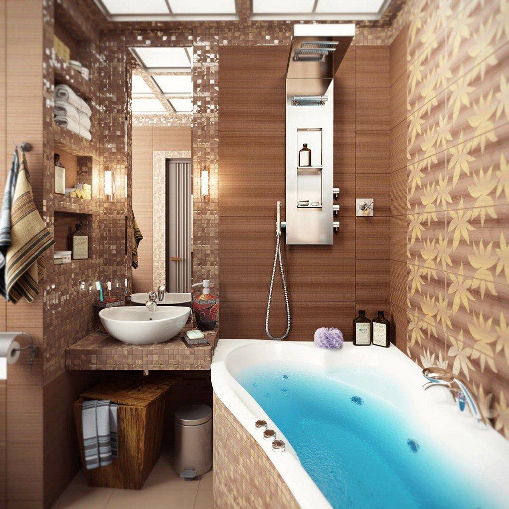 Современный дизайн маленьких ванных комнат