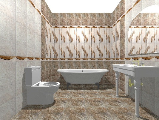 Укладка плитки на пол в ванной комнате