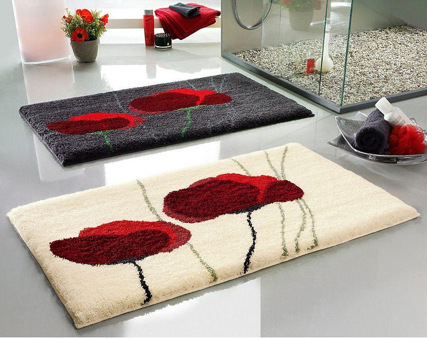 Натуральные материалы ковриков для ванной комнаты