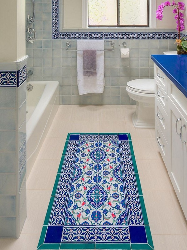 Bathroom carpet tiles