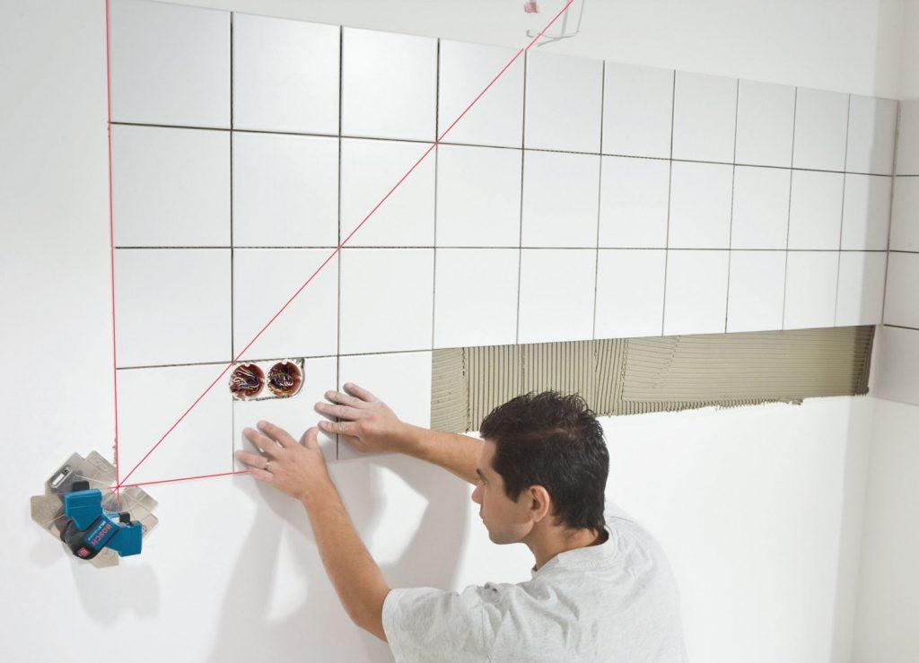 Размещение плиток на стенах