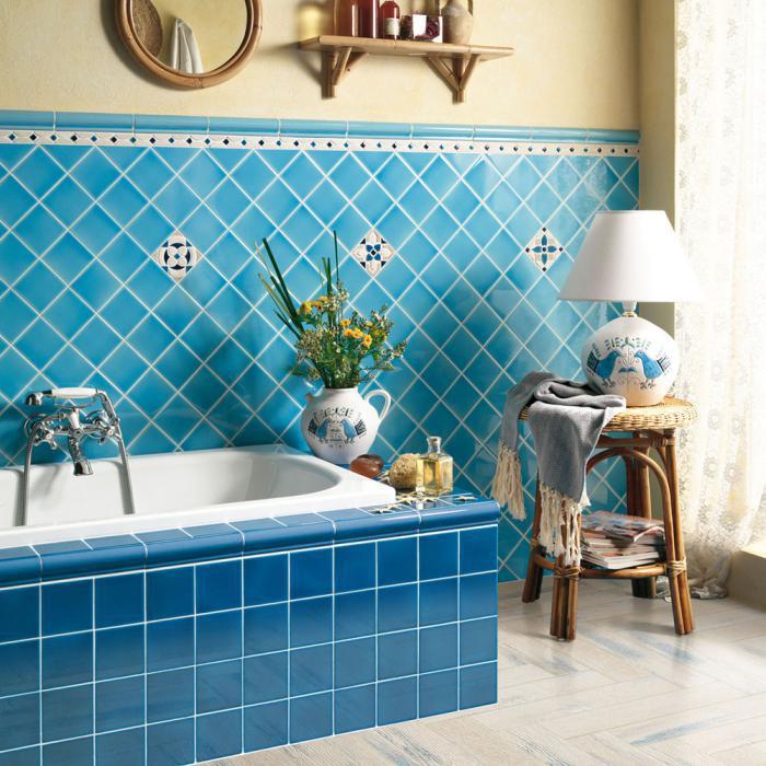Фото ванной комнаты голубого цвета