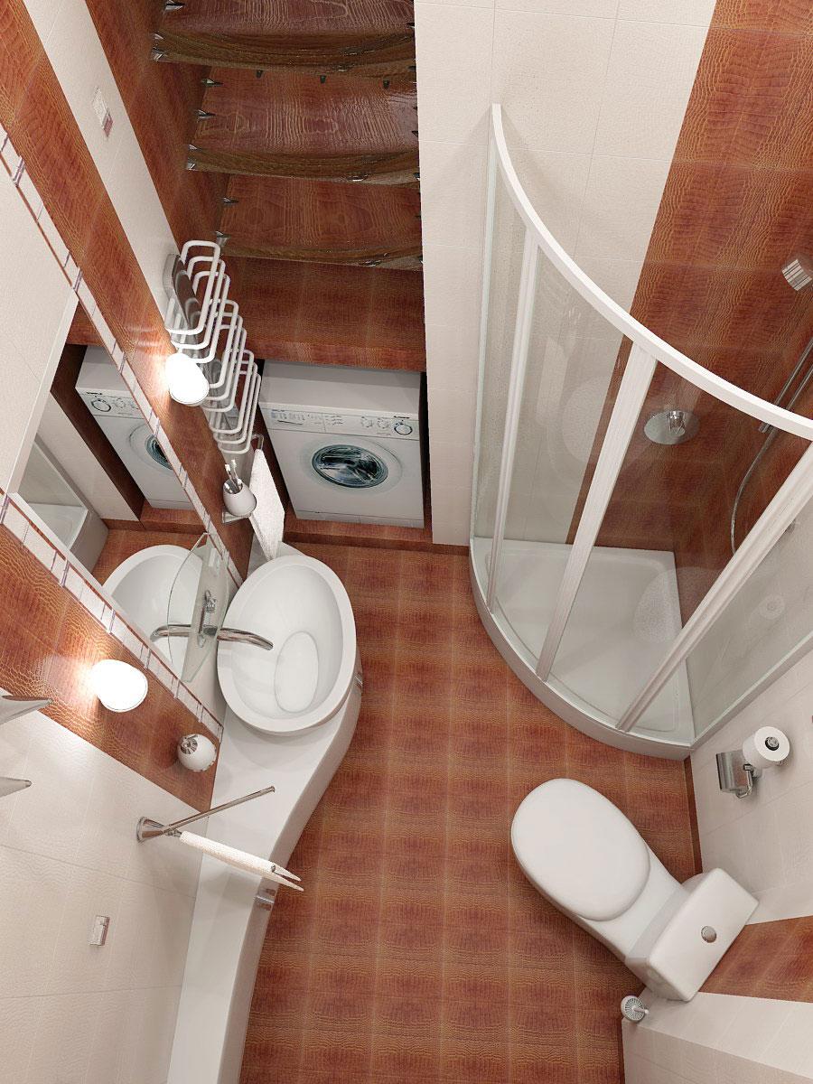 Примеры материалов для обустройства ванной комнаты совмещенной с туалетом