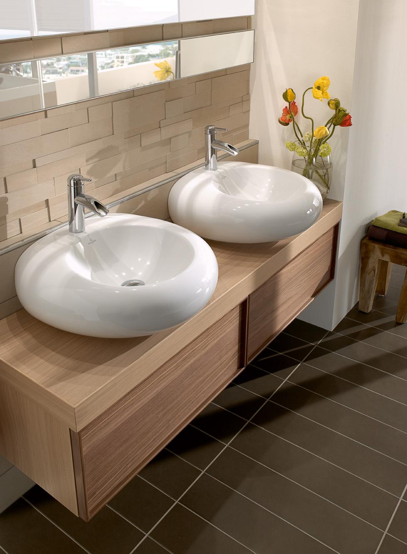 Как выбрать накладную раковину для ванной комнаты в нежных тонах