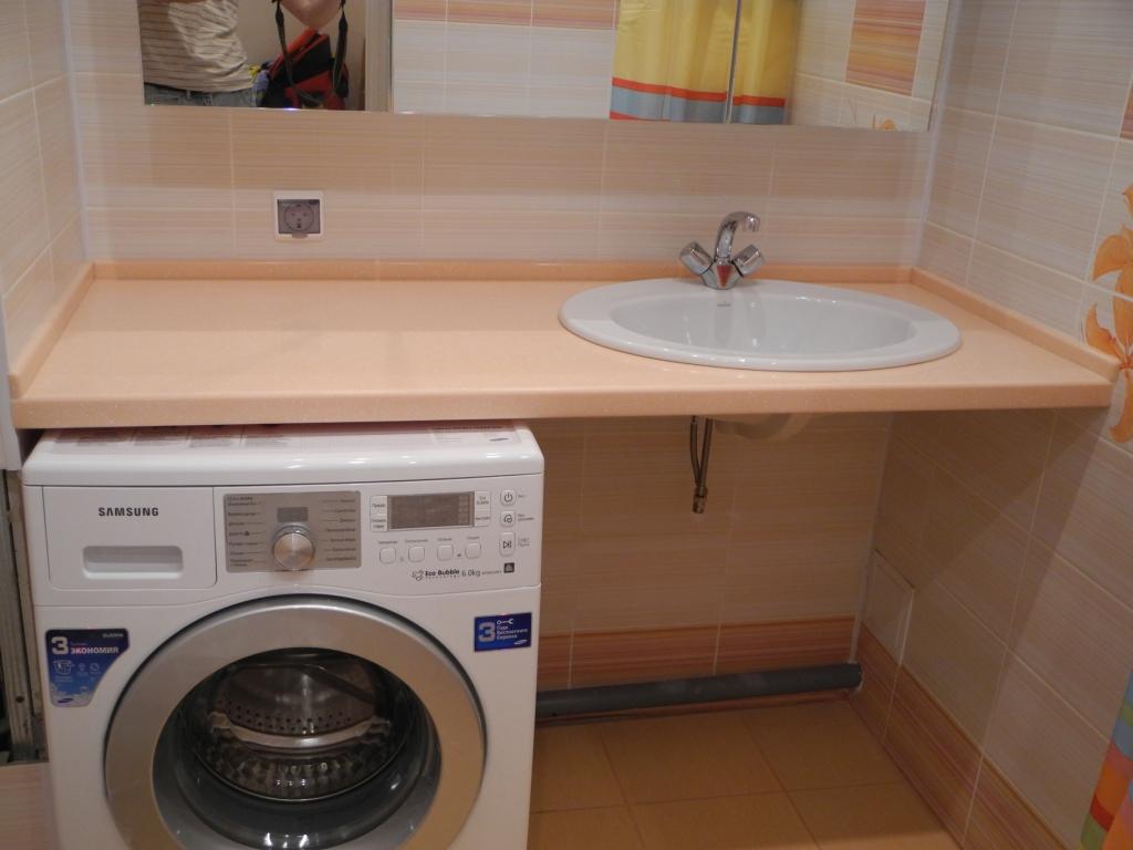 Овальная накладная раковина для узкой столешницы в ванной комнате