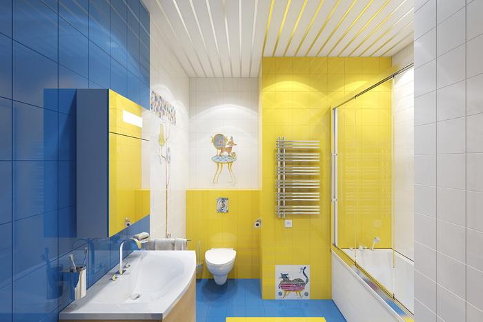 Ванная в желтом цвете