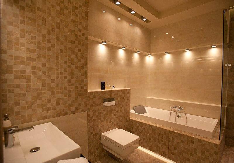 Фото ванной комнаты с мягким освещением