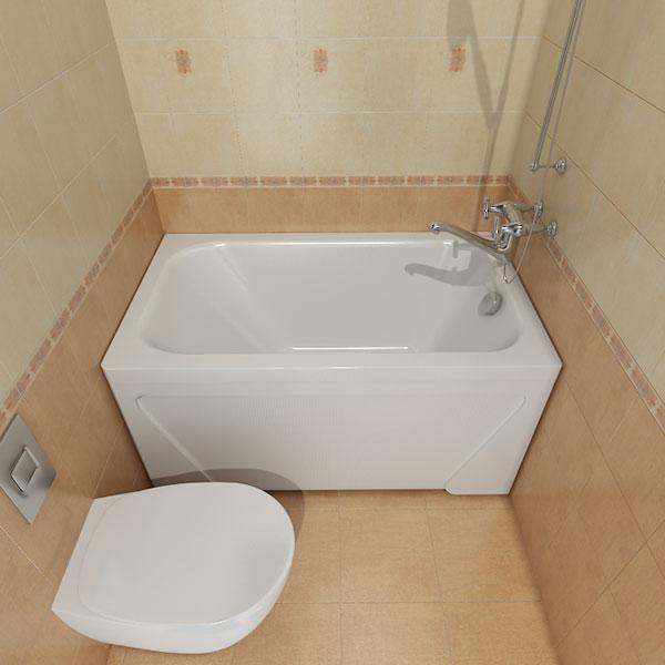 Фото бюджетного варианта малогабаритной ванной комнаты