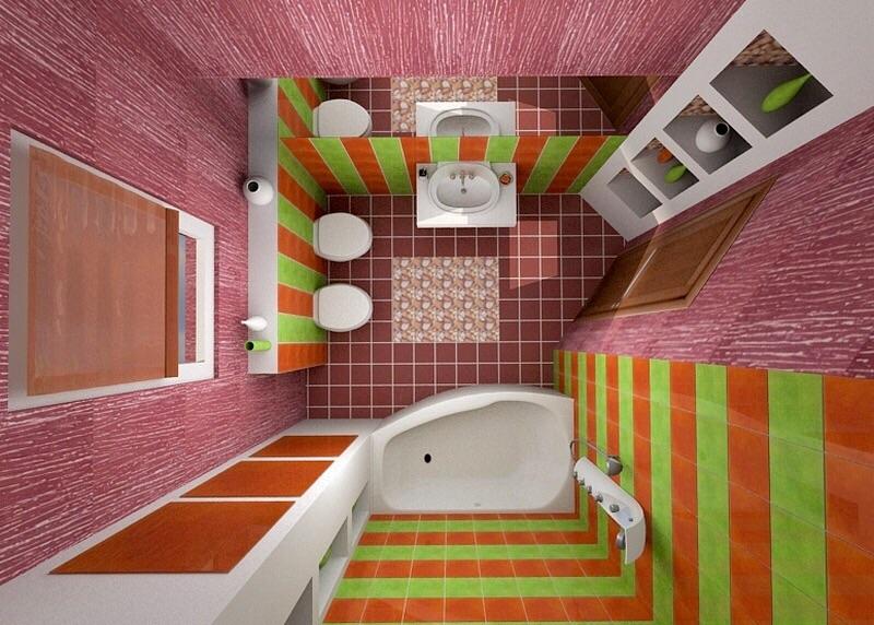 Фото ванных совмещенных с туалетом